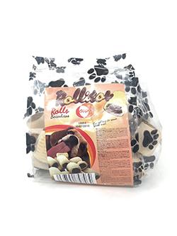 Rollitos Rellenos De Carne 200Gr Dapac Es un producto que se ganará tu confianza, ya que gracias a su composición, mantendrá sus defensas naturales de forma óptima, debido a que su receta incluye vitaminas. Su actividad física diaria será excelente, ya que estas galletas para perros incluyen minerales y calcio, para que sus huesos estén siempre sanos y fuertes. Además, le aportarán omega 3, por lo que son snacks que le ayudan a mantenerse en forma.    A los perros les encanta jugar, correr y entrenar. Con las galletas Pedigree Markies podrás divertirte el doble con tu mejor amigo, ya que debido a su forma son perfectas para lanzar y coger, para hacer que el tiempo de juego o entrenamiento de tu mascota sea mucho más entretenido y ameno. Prémialo con un snack muy sano, que no contiene colorantes ni aromas artificiales.    VENTAJAS:    Sabrosas galletas rellenas de carne con tuétano para perros.  Mantiene sus defensas naturales debido a que incluye vitaminas.  Receta con minerales y calcio, para unos huesos sanos y fuertes.  Estará siempre en forma, debido a su ingesta de omega 3.  Snack muy sano, sin colorantes ni aromas artificiales.  USO Y ESPECIFICACIONES:    Snacks con forma de galletas rellenas de tuétano para perros adultos de tamaño mediano y grande, que les aporta vitaminas, minerales y omega 3.  Descripción nutricional:    Ingredientes: cereales, carnes y subproductos animales (incluye mín. 4% tuétano, mín. 4% buey), azúcares, aceites y grasas, sustancias minerales, subproductos de origen vegetal.  Constituyentes analíticos: proteína (14,3%), contenido en grasa (10,7%), materias inorgánicas (8,2%), fibras brutas (1,3%), energía (365 kcal/100 g), calcio (1,7%), ácidos grasos omega 3 (1010 mg/kg).  Conservantes/aditivos nutricionales (por kg): vitamina A (4767 UI), vitamina E (alfa-tocoferoles) (47,7 mg), sulfato ferro monohidratado (43,5 mg).  Dosificación:    Consulta la tabla para saber la cantidad de snacks recomendada por tamaño.  Estas galletas son un al
