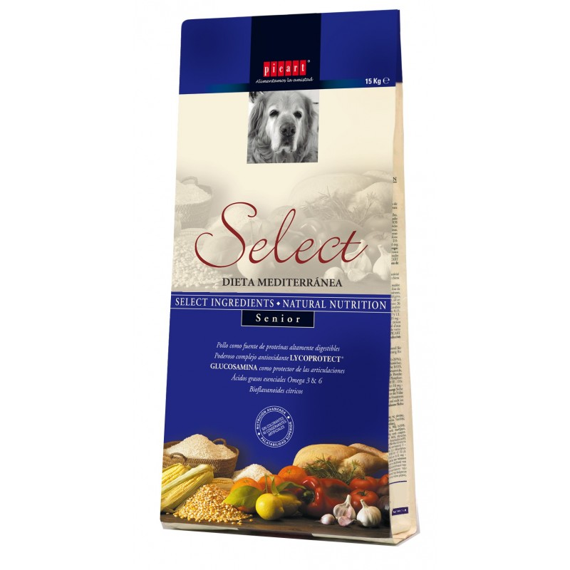 pienso para perros ancianos natural select picar